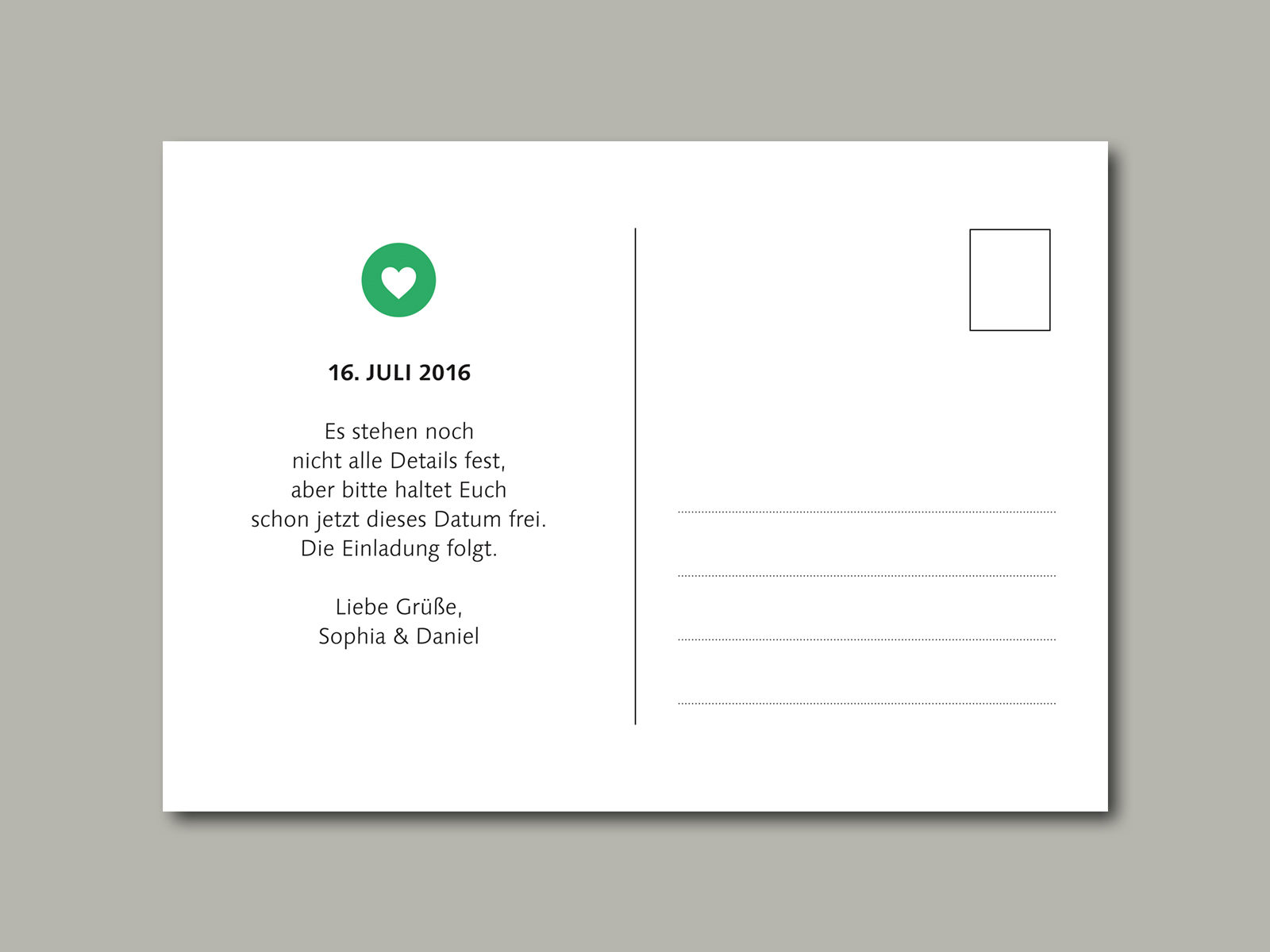 Save-the-Date Karte TIMELINE | inLiebe Papeterie