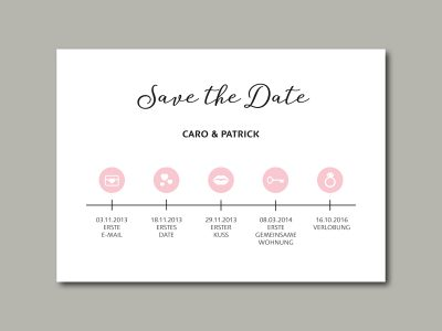 Save-the-Date Karte TIMELINE