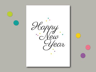 Postkarte HAPPY NEW YEAR