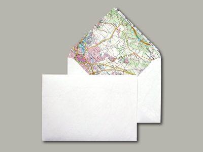 10 Briefumschläge mit Landkarte C6