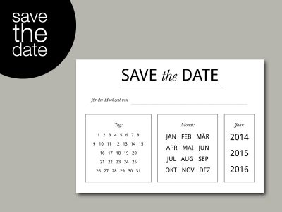 Save-the-Date Karte DO IT YOURSELF | DIY