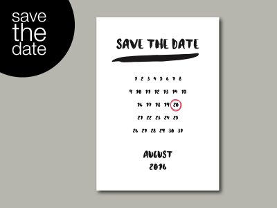 Save-the-Date Karte BRUSH