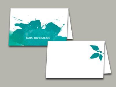 Tischkarte | Platzkarte SPLASH