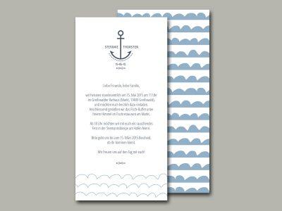 Hochzeitseinladung AHOI