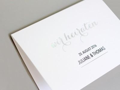 Hochzeitseinladung GLOW