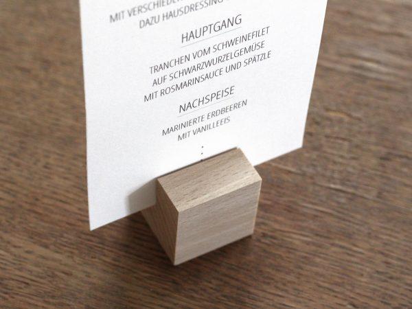 Kartenhalter | Holz-Würfel