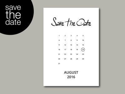 Save-the-Date Karte INK