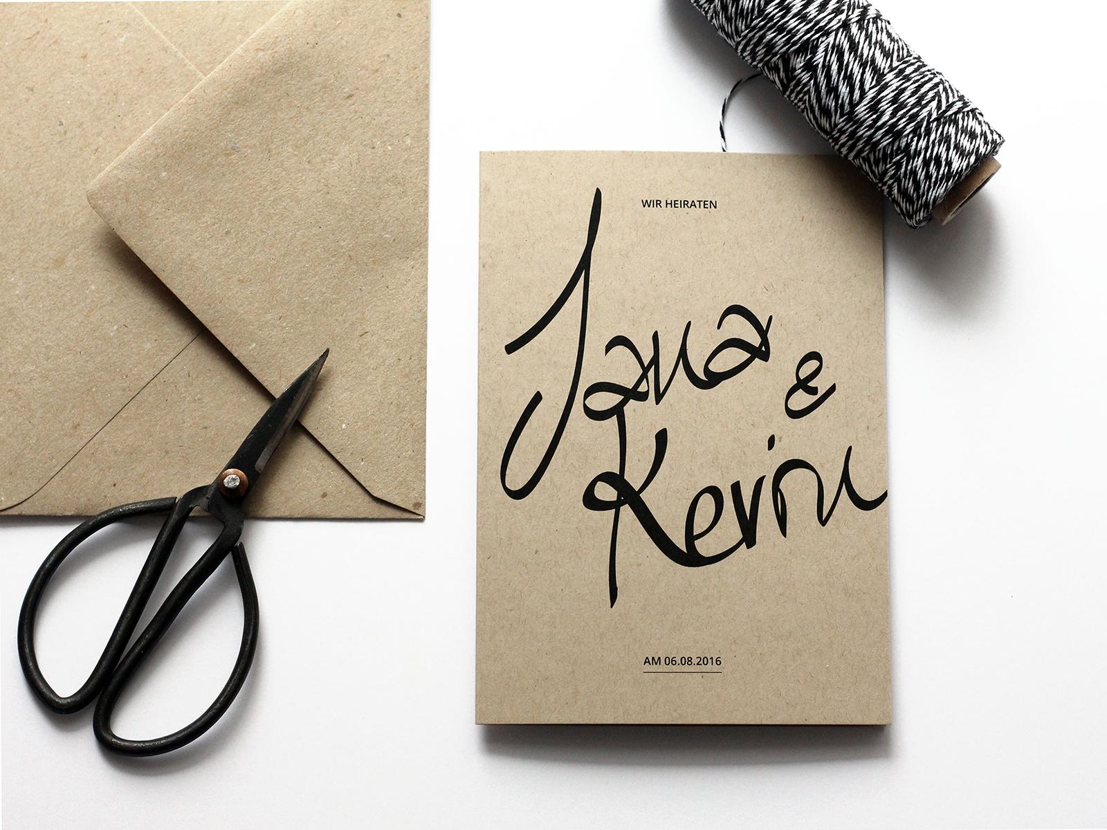 Einladung INK auf Kraftpapier