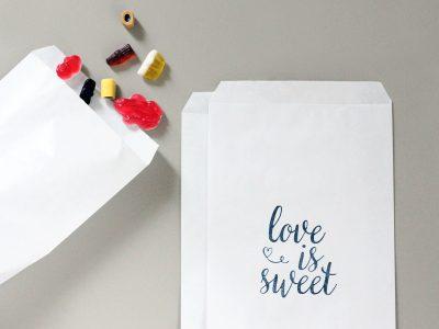 Tüten für Süßigkeiten | love is sweet