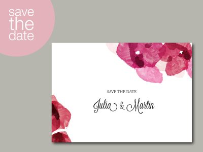 Save-the-Date Karte AQUARELL