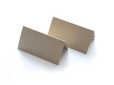 Tischkarten aus Kraftpapier