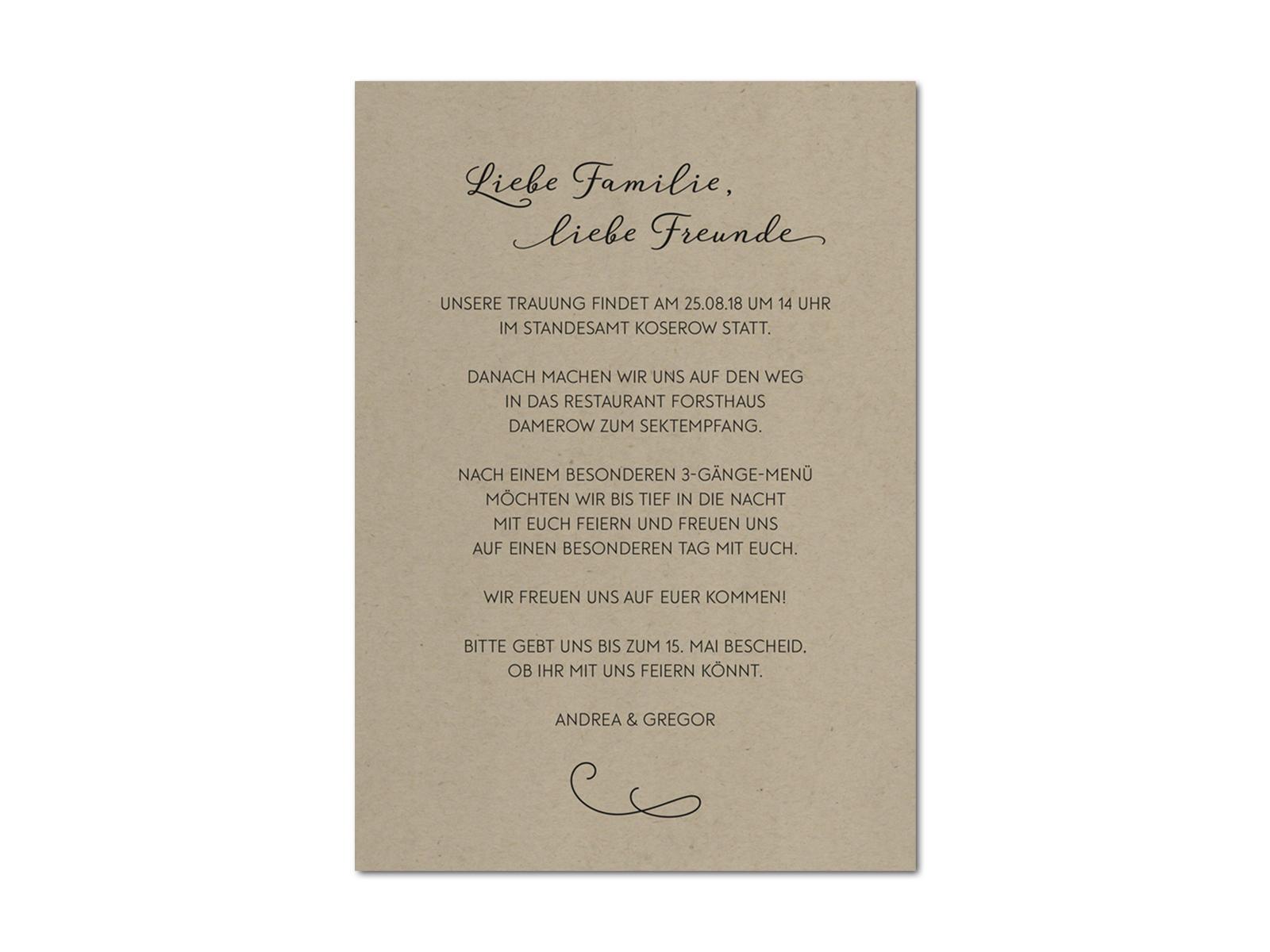 Hochzeit Einladung Nur Zum Sektempfang