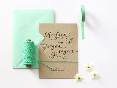 Hochzeitseinladung KRAFT
