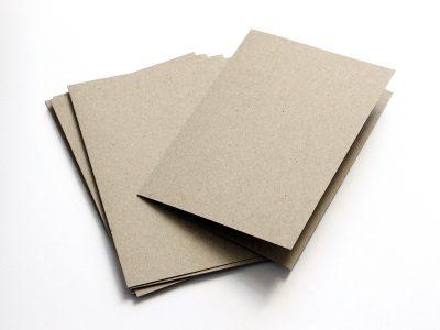 Klappkarten Kraftpapier Grau