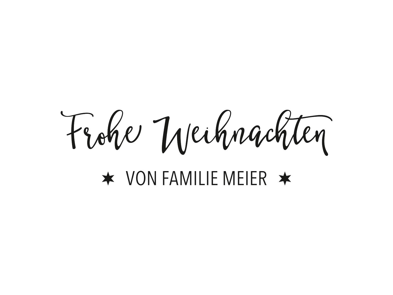 Stempel FROHE WEIHNACHTEN | 75 | inLiebe Papeterie