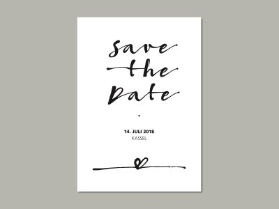 Save-the-Date Karte LOVELETTER