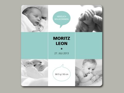 Baby- und Geburtskarte SQUARE
