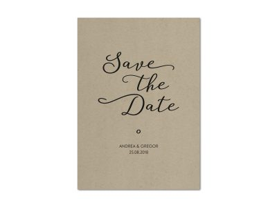 Save-the-Date Karte KRAFT