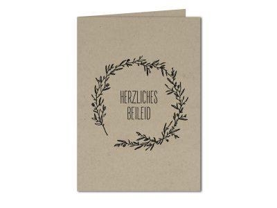 Trauerkarte HERZLICHES BEILEID