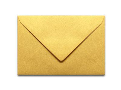 Briefumschläge Metallic Gold C6