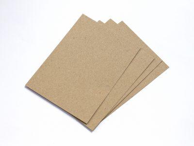 20 Karten aus Kraftpapier BRAUN A6