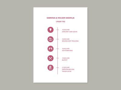 Programmkarte | Ablaufplan