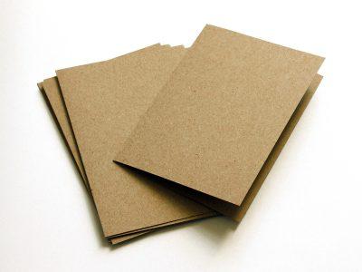 Klappkarten Kraftpapier Braun