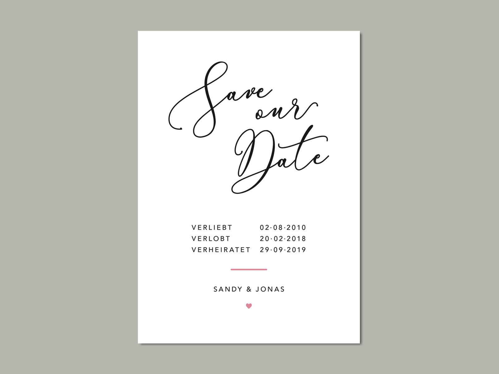 Save-the-Date Karte HAMPTON