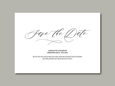 Save-the-Date Karte PARIS
