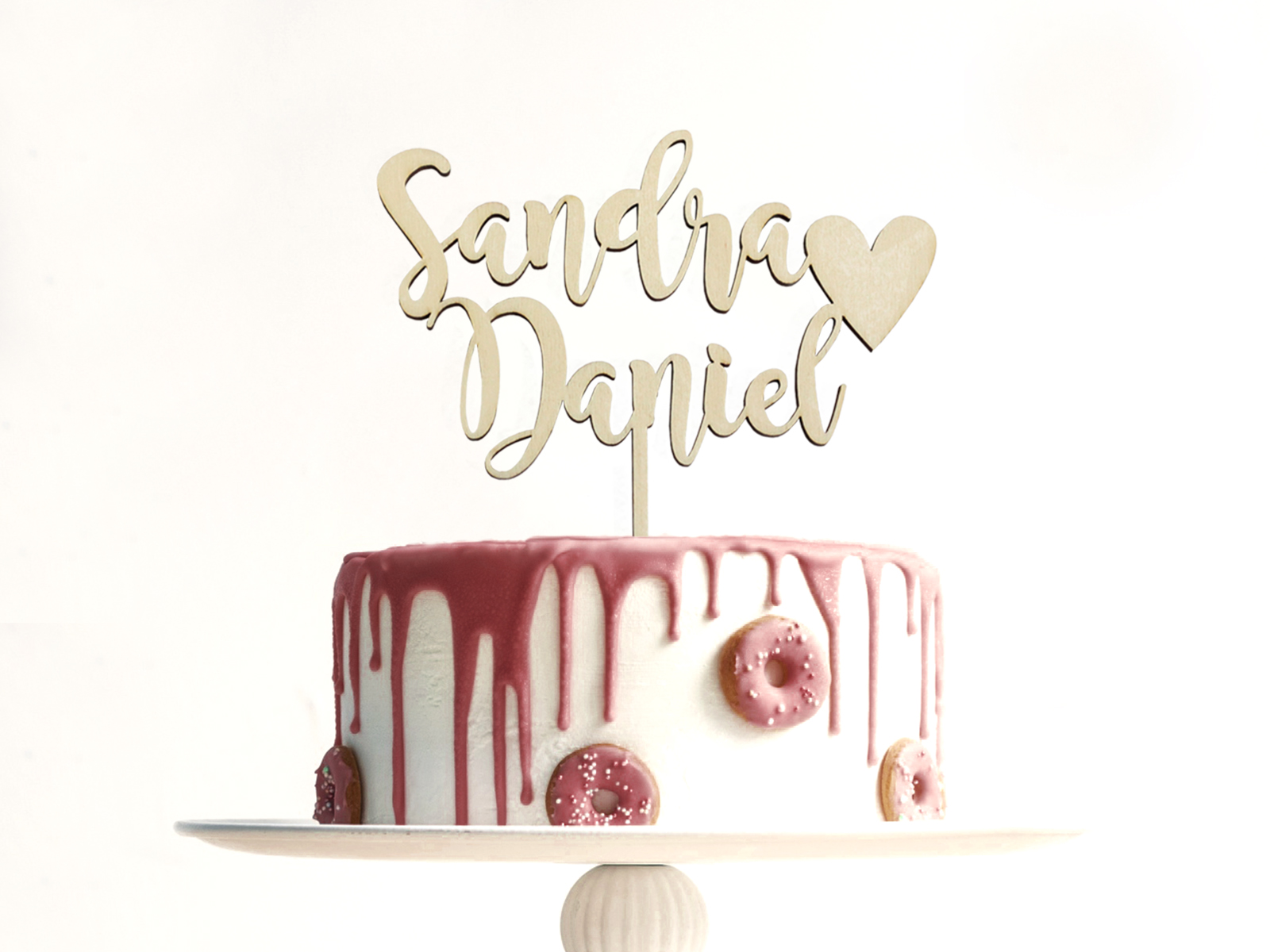 Cake Topper Aus Holz D5 Inliebe Papeterie
