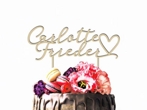 Cake Topper mit Herz | D6