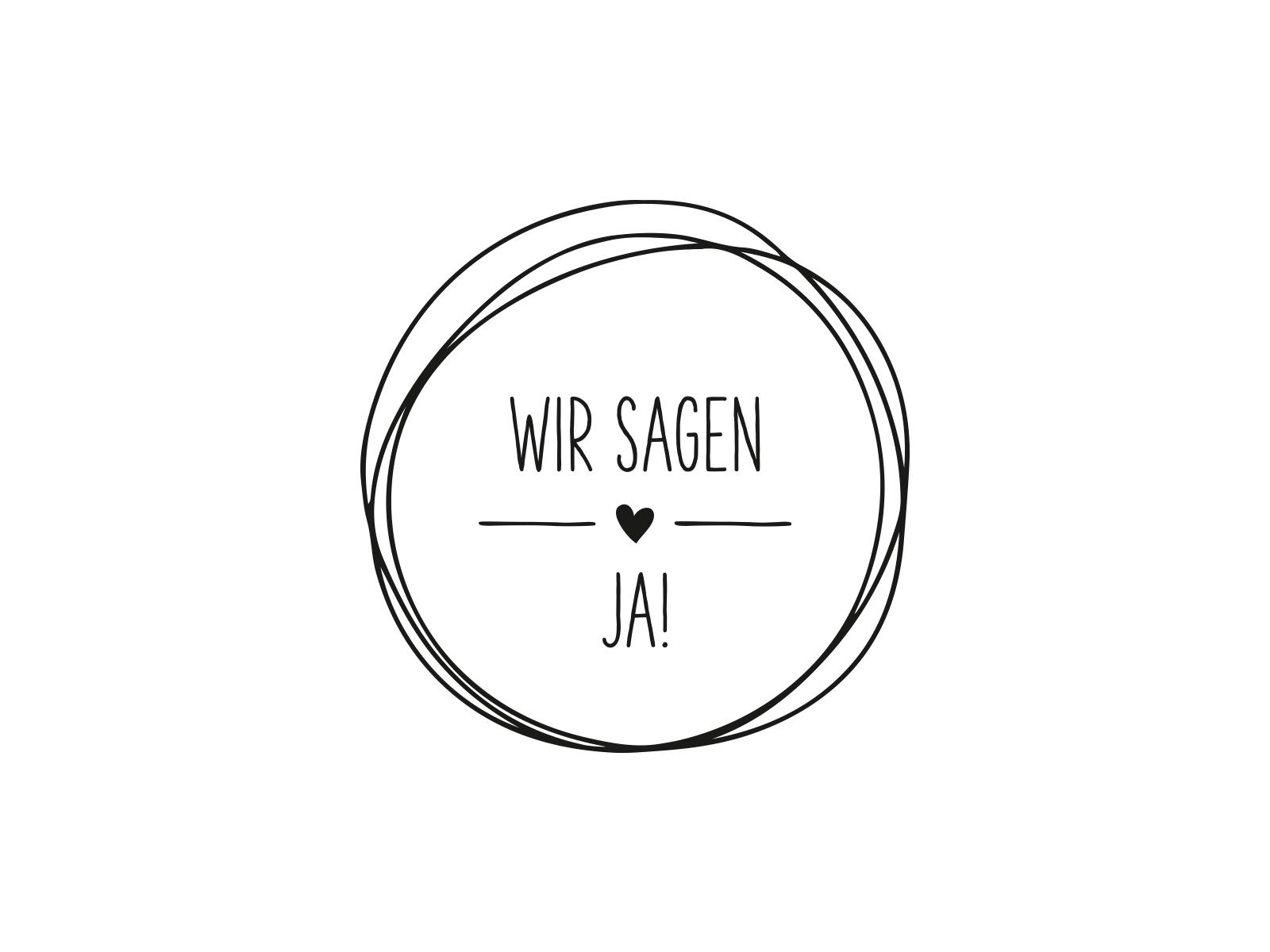 Stempel WIR SAGEN JA | 129 | inLiebe Papeterie