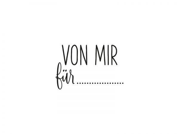 Stempel VON MIR FÜR | 23