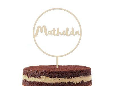 runder Cake Topper | D8