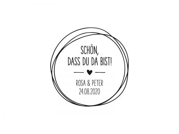 Stempel SCHÖN DASS DU DA BIST | 156