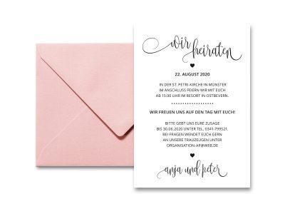 Stempel Hochzeitseinladung | 52.5