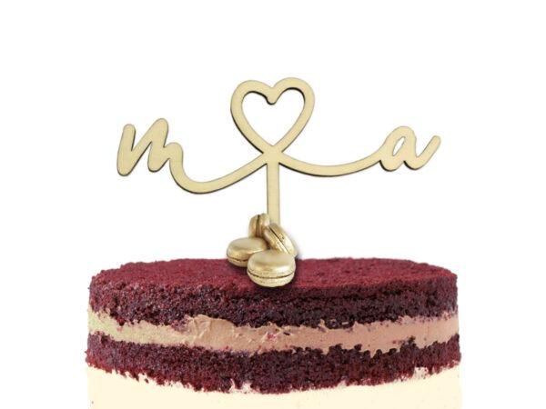 Cake Topper | Buchstaben mit Herz