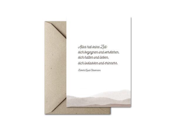 Trauerkarte ZEIT